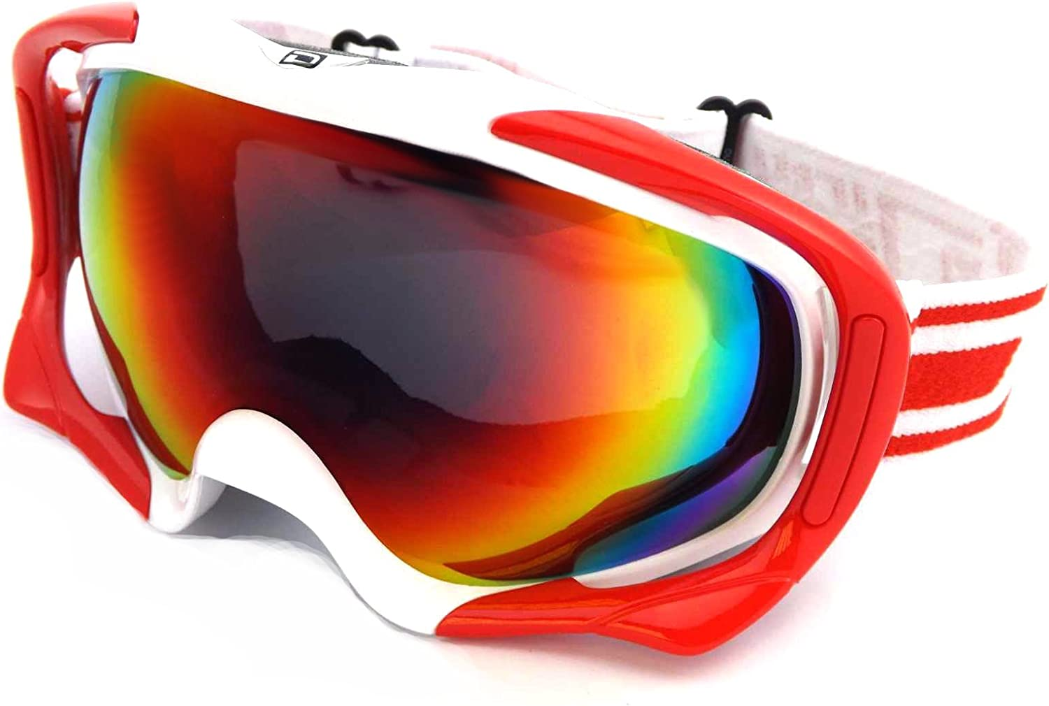 Dirty Dog Goggles 54118 Wei und Rot 54118 Visor Goggles Lens MirrGoldt