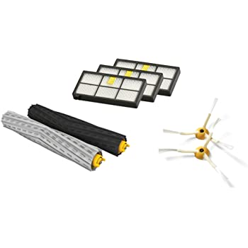 iRobot Authentic Replacement Parts- Roomba 800 and 900 Series Replenishment Kit (3 AeroForce Filters, 2 Spinning Side Brushes, and 1 Set of Multi-Surface Rubber Brushes)