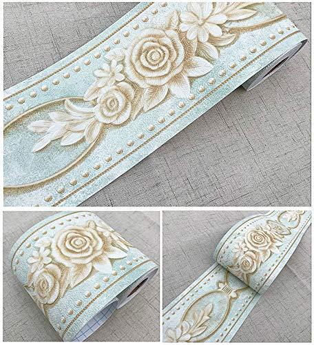 Uoisaiko - Bordes de Papel Pintado de PVC autoadhesivos, para Pared, Borde Autoadhesivo, Adhesivo en Relieve, 10 cm x 5 m,...