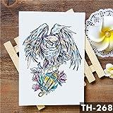 5Pcs-Liebeskrone Rose Blaue Lilie Blume Wasserdicht Tattoo Aufkleber Taube Engel Arm Tattoos Body Art Tattoo -In Tattoos Vom 23-Th-268