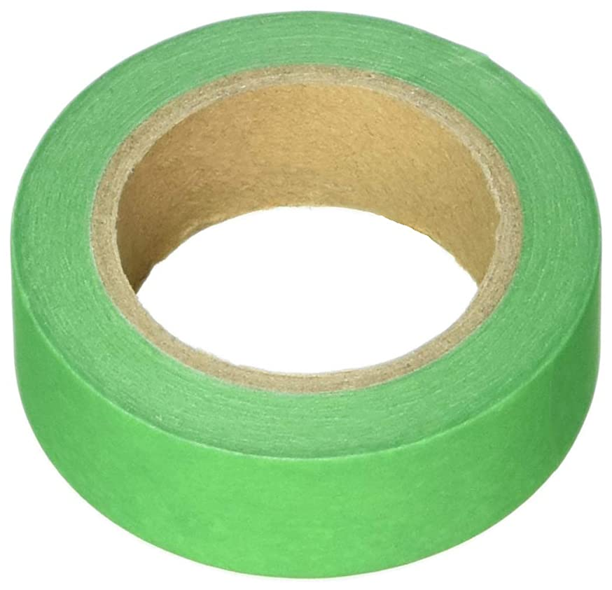 Wrapables Colorful Washi Masking Tape, Solid Green