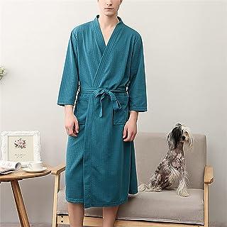 SKREOJF Peignoir Pour Hommes Et Femmes Couples Pyjama Gaufré Universel Quatre Saisons Pyjama Pyjama (Color : Men's styles,...