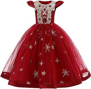 IBTOM CASTLE Flower Girls Maxi Dress Bridesmaid Wedding Pageant Party Princess Communion Floral Boho Vintage Lace Dance Gown