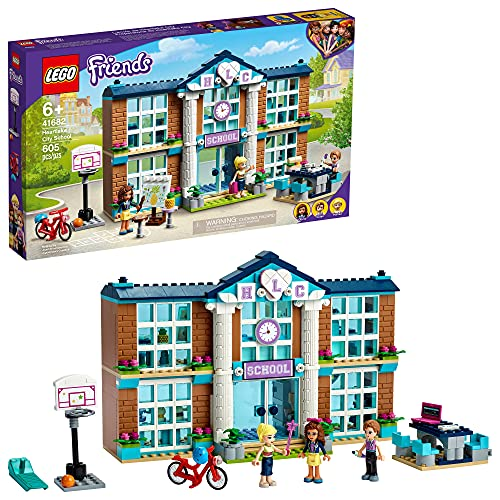 LEGO Friends Heartlake City School 41682 Building Kit; Pretend School Toy Fires Kids' Imaginations and Creative Play; New 2021 (605 Pieces)