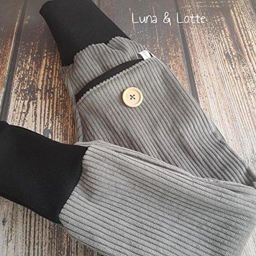 Graue Breitcord Pumphose grau schwarz so cool 92 - 152 Waldorf