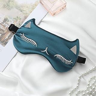 IYOU Máscaras de seda brillante para dormir con diseño de gato de seda satinada, máscara de ojos para dormir por la noche,...