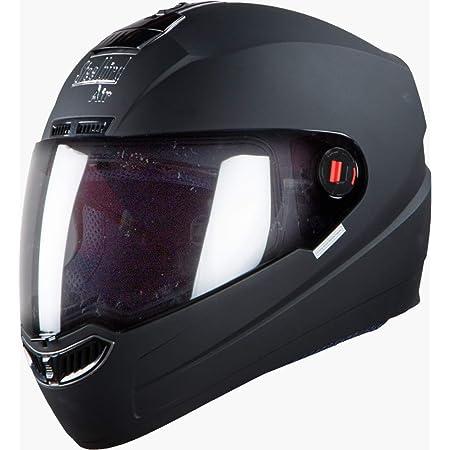 Steelbird Air SBA-1 ABS Material Shell Dashing Helmet with Plain Visor, 600 mm (Black, Large)
