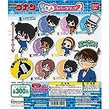 Rubber clip N Bandai Detective Conan Pitakyu 2 Gashapon 8 set clip capsule toys