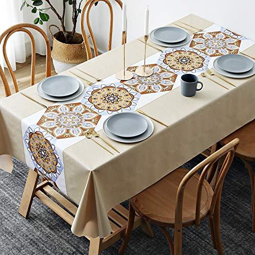 Mantel lavable para cocina, comedor, mesa de bufé, protector de mesa, tamaño grande, mantel oblongo, 140 x 200 cm