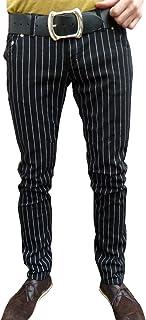 Mens e Donna Skinny Gessato Pantaloni Jeans Mod Retro Vintage Tubolare Tuta