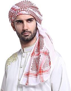وشاح للرأس رجالي كبير شماغ عربية مسلم غطاء رأس شال كيفي وشاح عربي