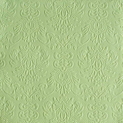 Ambiente servetten Lunch/Party 33x33cm Elegance Pale Green reliëf/embossed