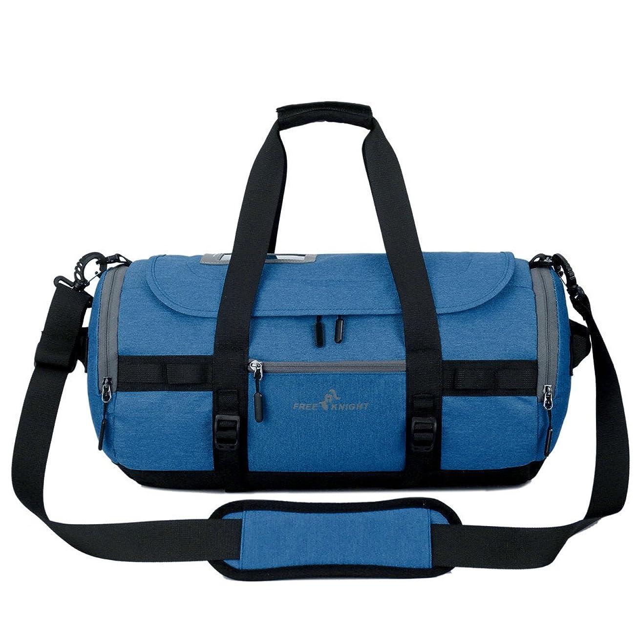 強制契約外国人スポーツバッグ 大容量 INorton 旅行バッグ トラベルバッグ 軽量 耐久性 斜め掛け 手提げ シューズ収納 男女兼用 旅行 出張用ボストンバッグ