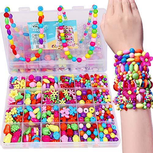 Moda Juguetes para la niña colorido rompecabezas ToyBracelet ToysMaking niños Hama Beads Set Educativo 3D Beads Puzzle Juguetes