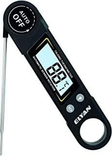 ELYAN Kitchen Thermometer Meat Thermometer Candy thermometer Cooking Thermometer Report Thermometer Instant Read Thermometer with Blue Backlit LCD Display Voice