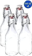 Bormioli Rocco Glass 8.5 Ounce Swing Top Bottle, Set of 4