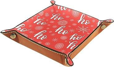 KAMEARI Skórzana taca czerwony wzór klucz telefon moneta pudełko skóra bydlęca taca na monety praktyczne pudełko do przech...