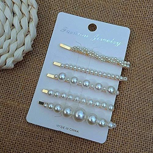 WOHAO Brossettes Corée Perle Perles Imité Clips Cheveux for Les Femmes de la Mode des Cheveux Pin Set épingles à Cheveux Fille Barrette Accessoires Ch