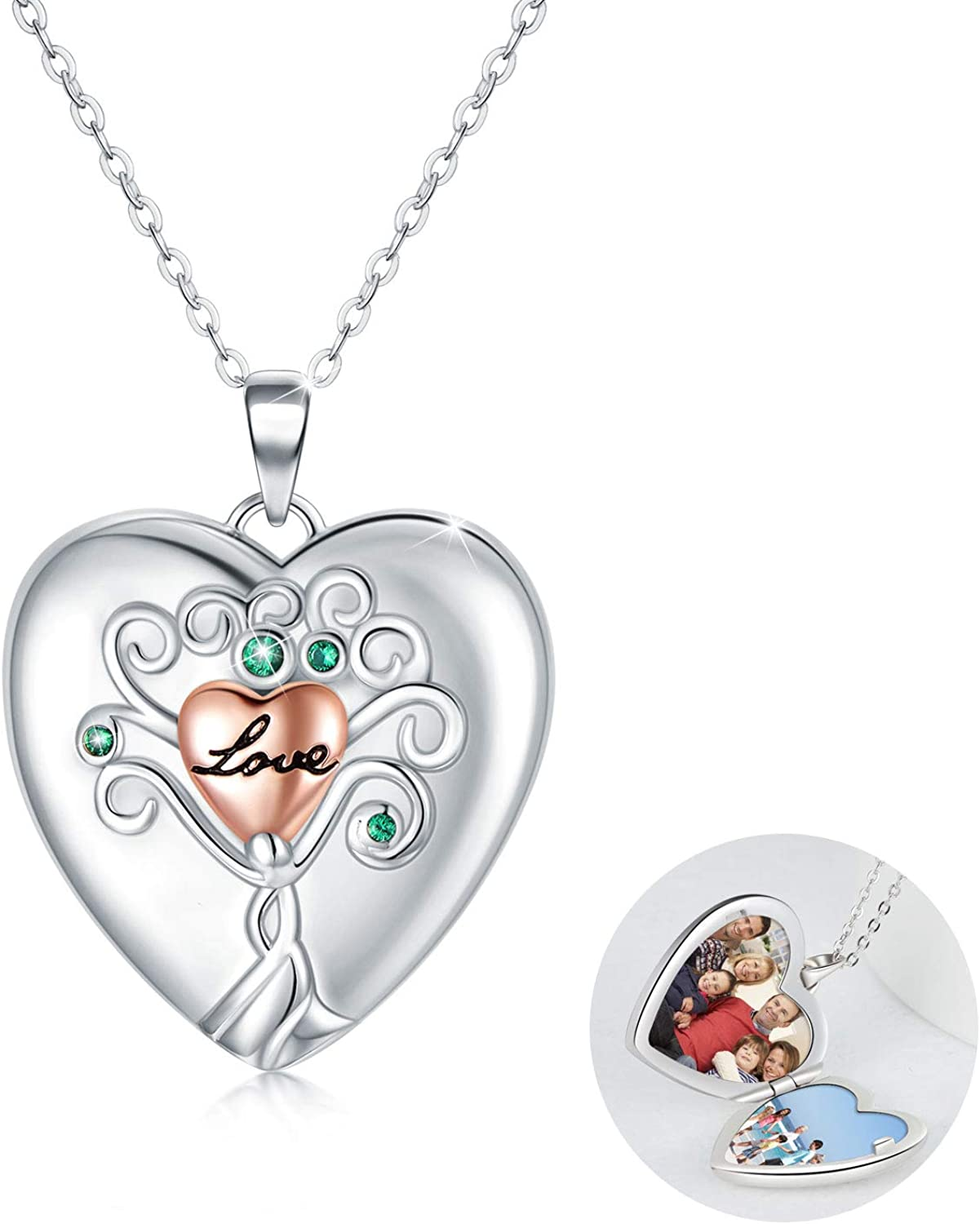 Heart trend rank Locket Necklace Tree of Sil Life Sterling Reservation