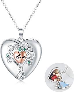 RBG Dissent Locket Necklace That Holds Pictures HeartLocketNecklace925SterlingSilverTreeofLifePhotoLocketNeckla...