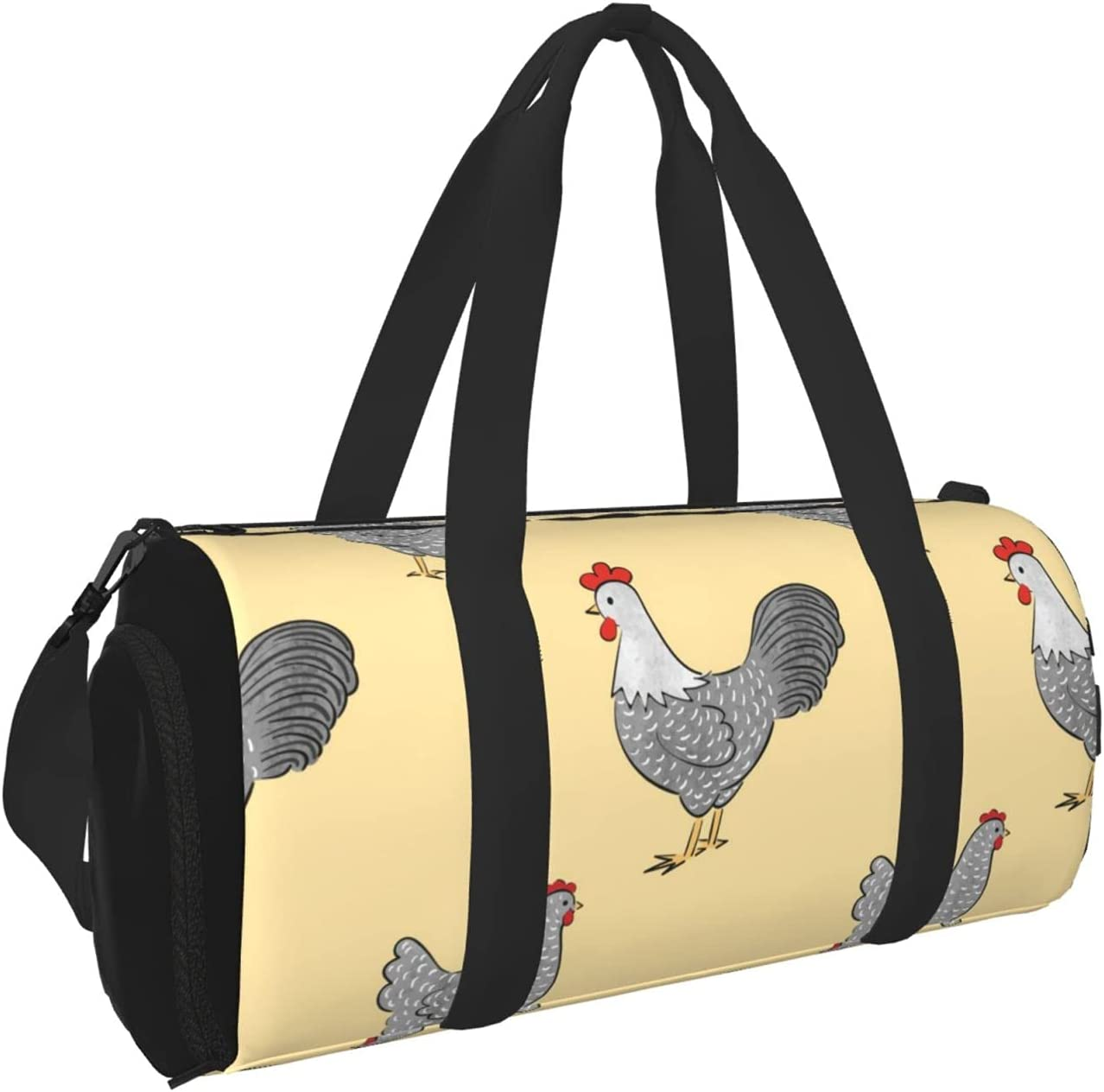 Timeergy Chicken Sales of SALE items Quantity limited from new works Pattern Gym Bag Travel Lug Duffel Carry On Bags