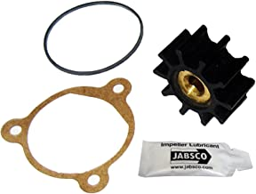 Jabsco 9200-0023-P, Nitrile, Drive Type 4, 10 Blade, 1-19/32 Diameter, 3/4 Width, 5/16 Shaft, Brass Insert