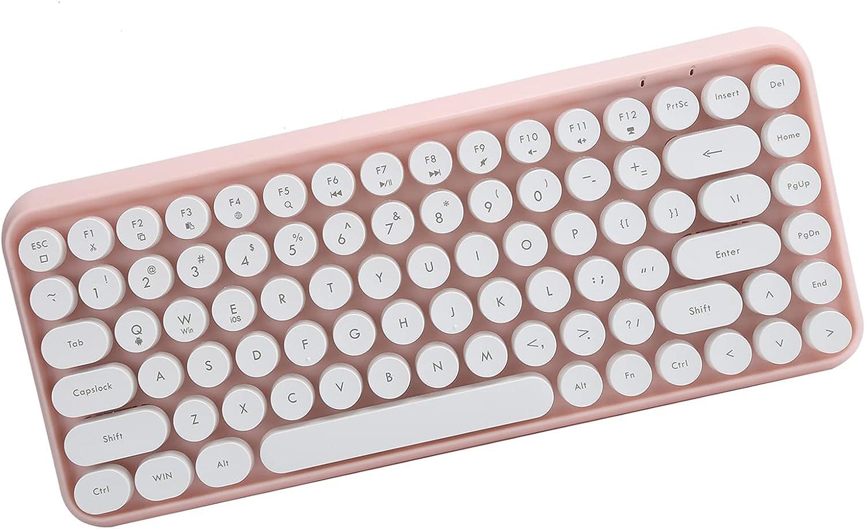 Hilitand Jacksonville Mall Wireless Bluetooth Keyboard Typewriter Portable 84-Key Popular standard