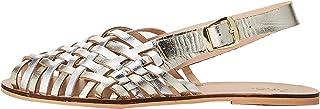 Marchio Amazon - find. - Woven Leather, Sandali con Cinturino alla Caviglia Donna