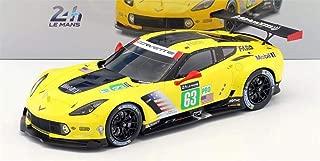 Spark Chevrolet Corvette C7.R No. 63 Corvette Racing GM Le Mans 2017 in 1:18 Scale