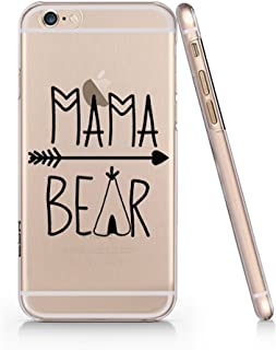 Mama Bear Rext Quote Clear Transparent Plastic Phone Case for iphone 7/8PLUS_SUPERTRAMPshop (iphone 7/8PLUS)