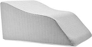 Lounge Doctor Elevating Leg Rest Pillow Wedge w Cooling Gel Memory Foam Heather Grey Cover Medium 18