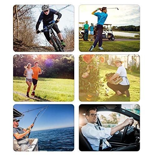 Tagvo Arm Sleeves, 3 Paar Outdoor Sports Arm Warmers Atmungsaktive Soft UV Schutz Cover Elbow Ärmeln Stretchy Arm Cooling Covers für Laufen/Radfahren/Fahren/Klettern/Golfen - 6