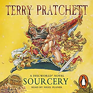 Sourcery                   By:                                                                                                                                 Terry Pratchett                               Narrated by:                                                                                                                                 Nigel Planer                      Length: 7 hrs and 52 mins     1,214 ratings     Overall 4.6
