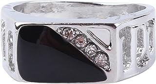 MDTBB خواتم الرجال مربعة كلاسيكية للرجال خاتم المفصل المفصل المفصل للرجال أنيقة خواتم واسعة جدا، 19.8 مم
