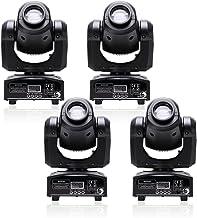 U`King 4pcs One Set Stage Lights, Portable LED Spot Moving Head Light 25W RGBW 4 Color..