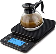 Digital Coffee Scales 6.6lb/3kg Timer and Tare Function Built-in Kitchen Scale for Cooking Baking with LCD Display (Blue Light)
