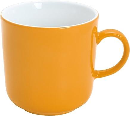 Preisvergleich für Kahla Pronto Colore Kaffeebecher, Kaffee Tasse, Becher, Porzellan, Orange-Gelb, 300 ml, 475300A72767C