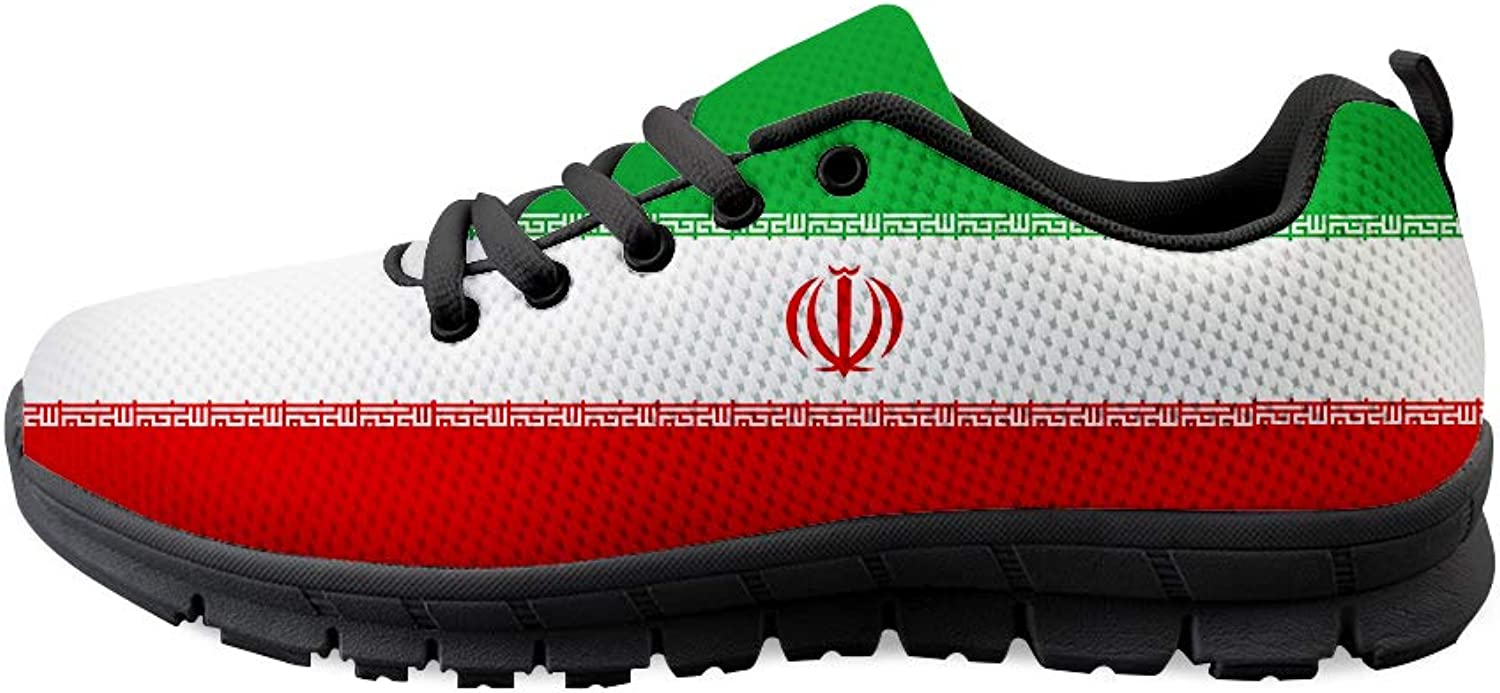 Owaheson Lace-up Sneaker Training shoes Mens Womens Iran Flag