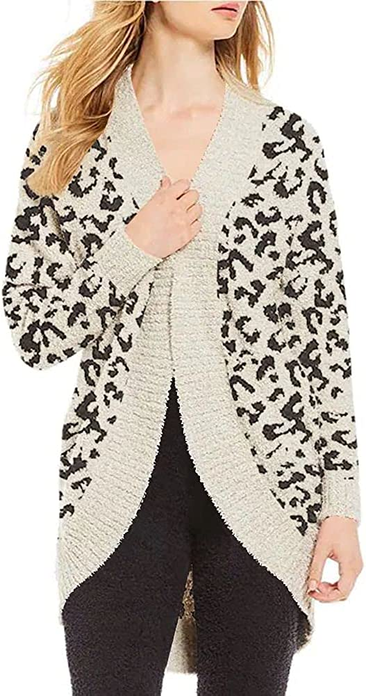 Grlasen Women's Fashion Long Sleeve Open Front Sweater Cardigan Ribbed Solid Color Fall Winter Knit Chunky Cardigan Coat