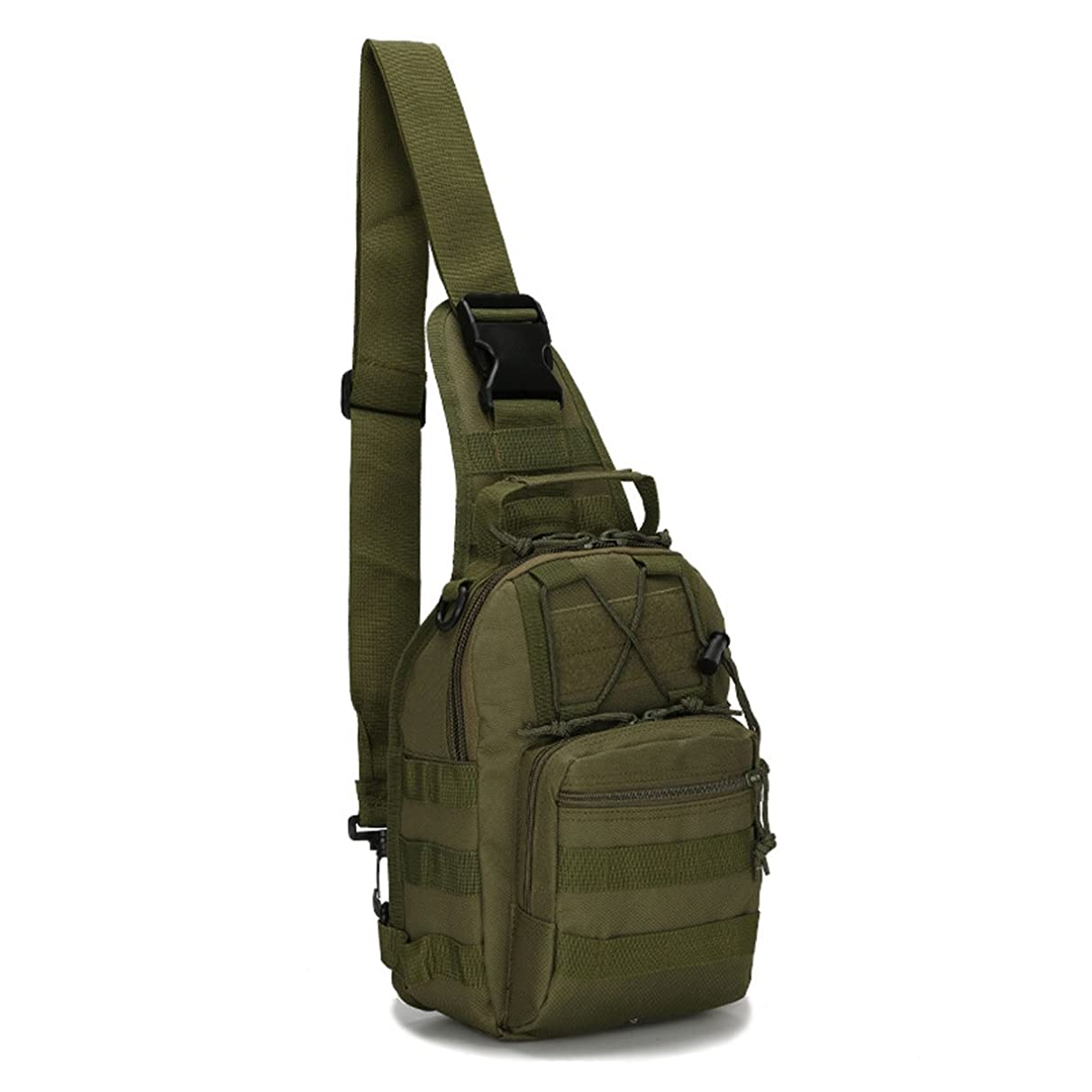 Dunnta Tactical Sling Bag, Military Sport Bag EDC Molle Pack Daypack for Camping, Hiking, Trekking, Rover Sling