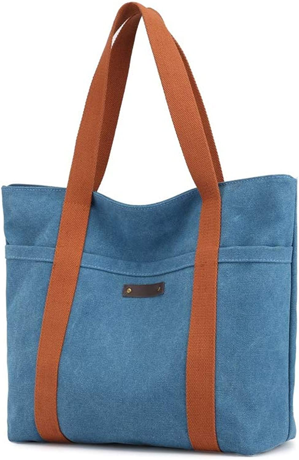 NDYE Canvas Women Handbags Solid Lady Casual Totes Female Shoulder Bag Large Capacity Shopping Bag