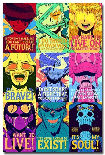 Tomorrow sunny One Piece Motivational Quotes Anime Art Silk Poster Print 24x36 inches 008
