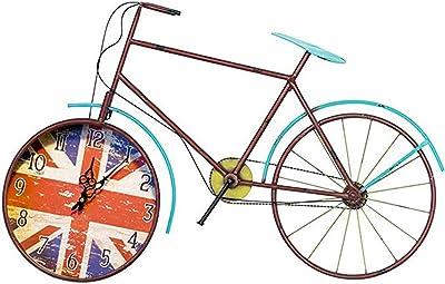 Reloj de Pared Bicicleta Creativa Arte de Hierro Silencio Reloj de ...