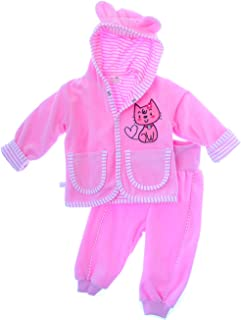 Baby Kapuzenjacke Unisex Nicki Warme Jacke mit Kapuze 56 62 68 74 80
