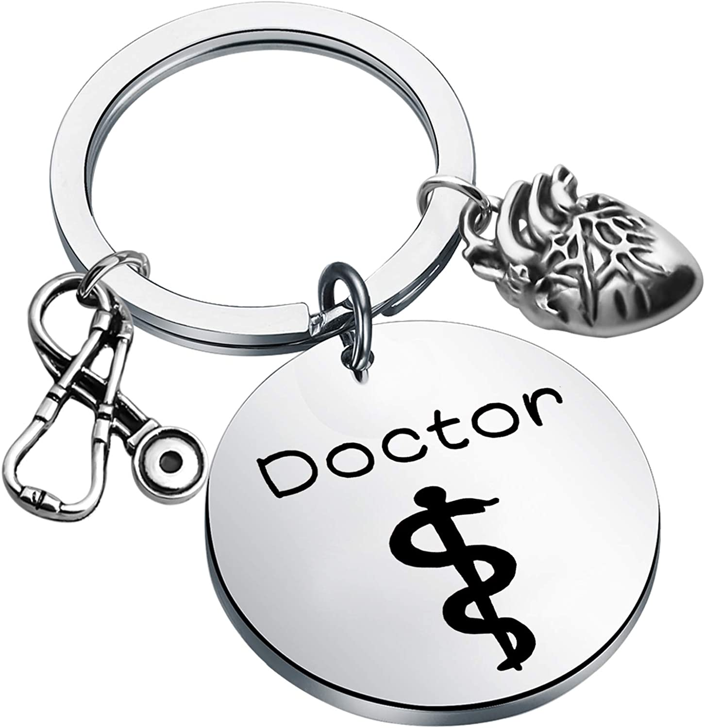 FEELMEM Doctor Gift Cardiologists Keychain with Stet Max 50% Ranking TOP5 OFF