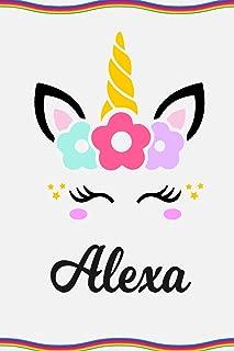 Alexa: Personal Notebook | Personal Diary | Unicorn Notebook | Personalized Journal | Customized Journal | Unicorn Lover Gift | Personal Name Notebook