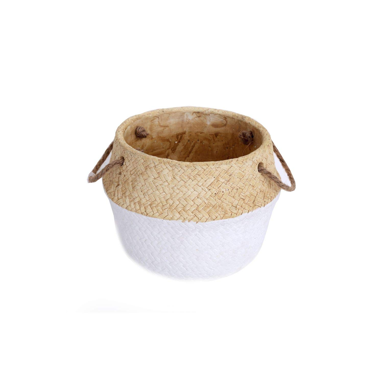 diam Cache Vaso New York ovale in creme in ceramica lucida 23/cm