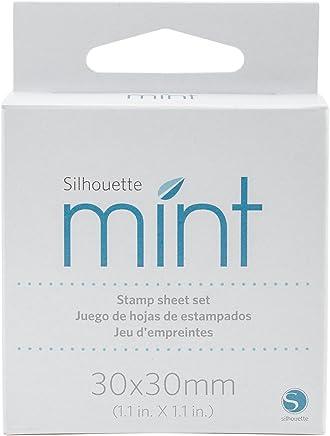 Silhouette Mint - Juego de sábanas con Sellos, Blanco, Mediano, 1