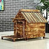 Casetas para Perros Refugio de madera habitación del gato del perro, resistente a la intemperie del perrito de Casa...