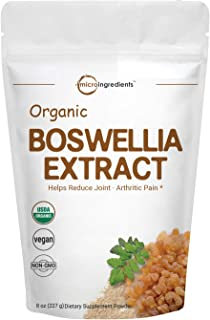 Pure Organic Boswellia Serrata Extract Powder, 8 Ounce, Powerfully Supports Joints, Knees and Bones Health, Non-GMO and Vegan Friendly